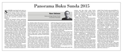 PANORAMA BUKU SUNDA-HAWE